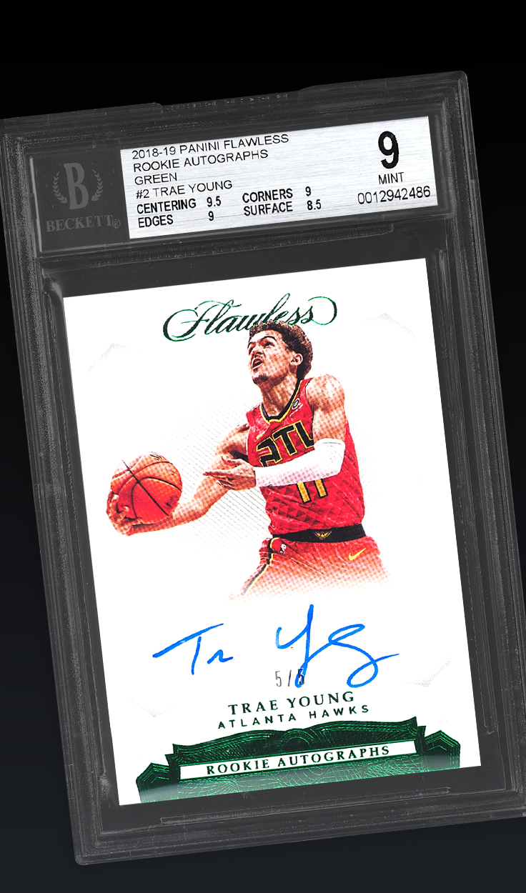 Trae Young, '18-'19 Flawless Green BGS 9