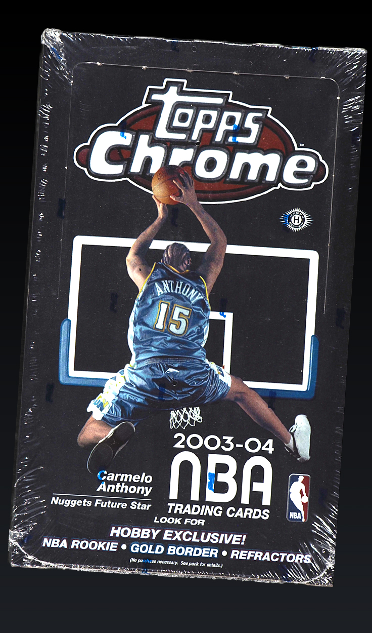 '03-04 Topps Chrome Wax, Factory Sealed Unopened Box