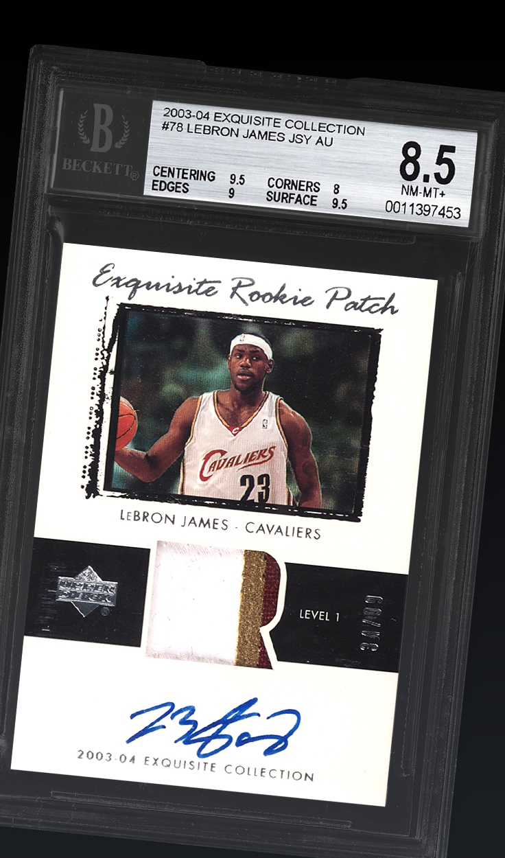 LeBron James, '03 Exquisite RP /99 BGS 8.5