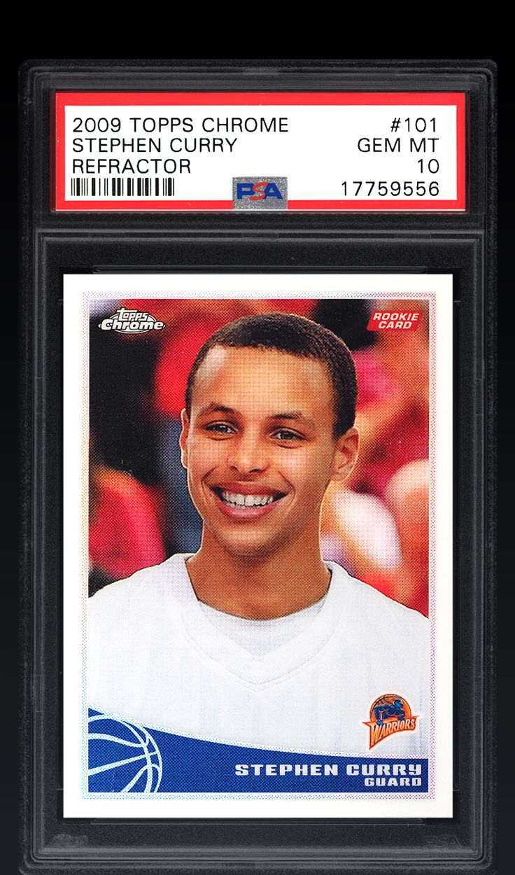 Stephen Curry, '09 Topps Chrome Refractor PSA 10