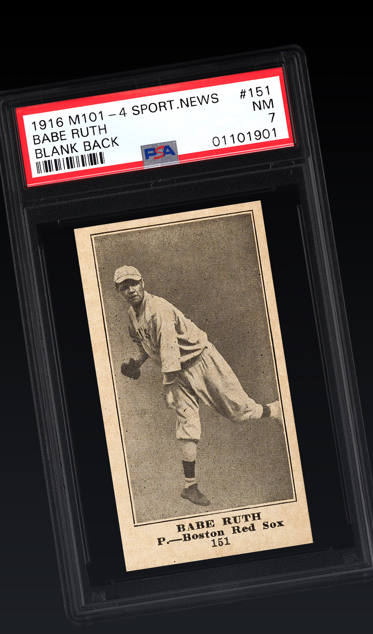 Babe Ruth, '16 Sporting News RC PSA 7