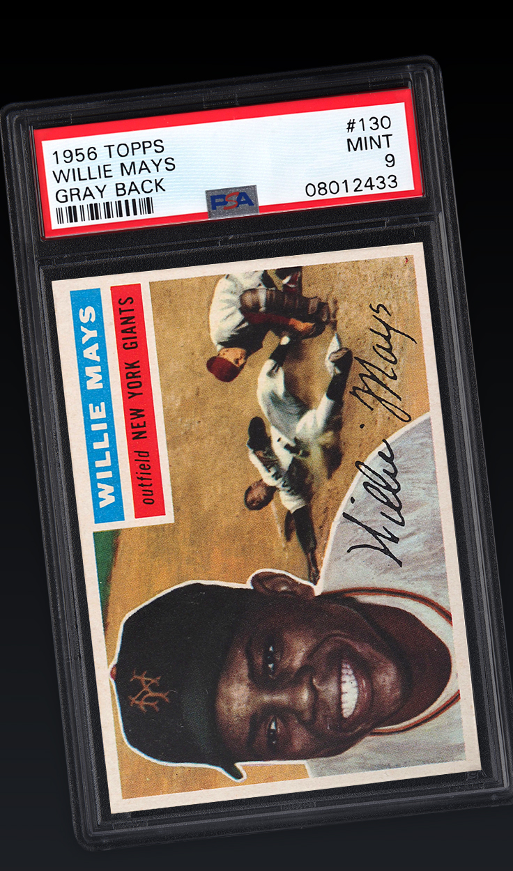 Willie Mays, '56 Topps Gray Back PSA 9