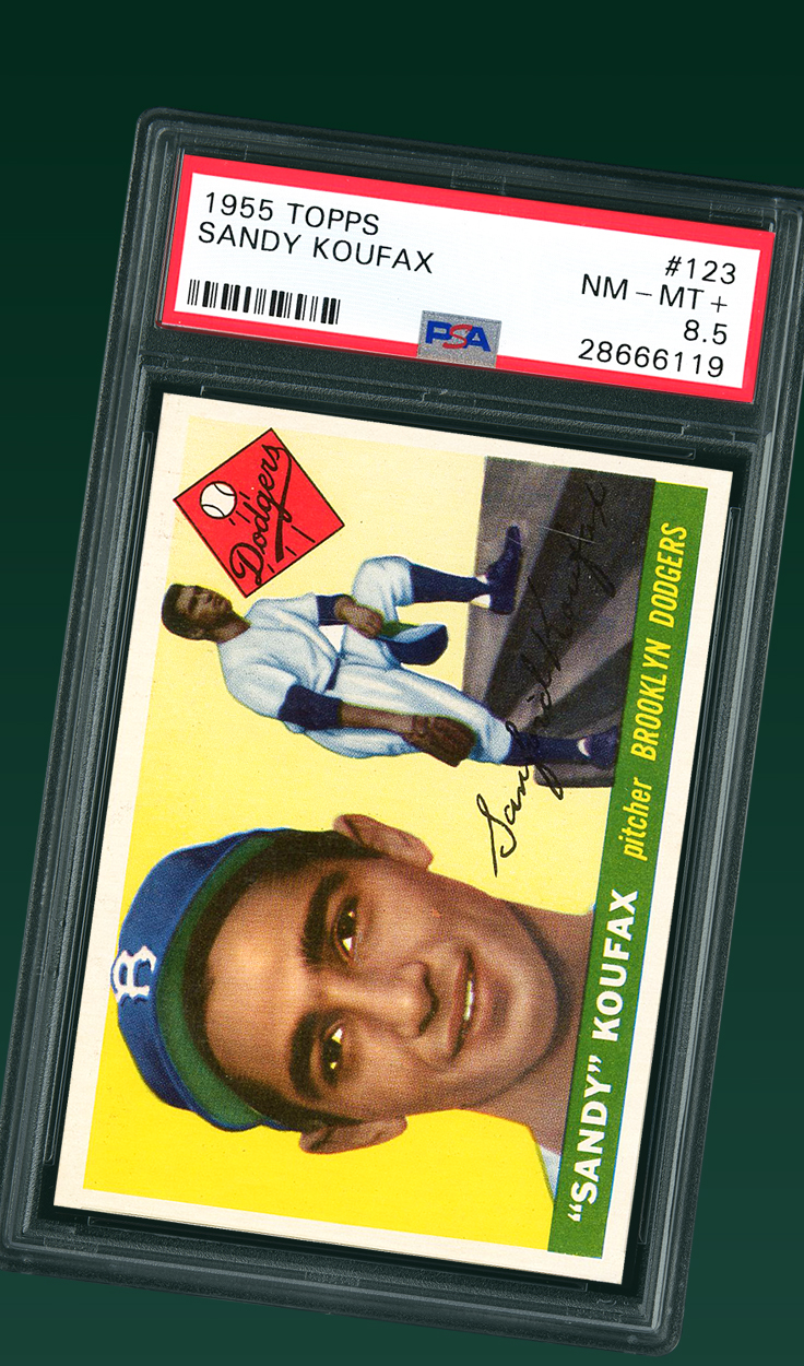 Sandy Koufax , 1955 Topps #123 Rookie Card