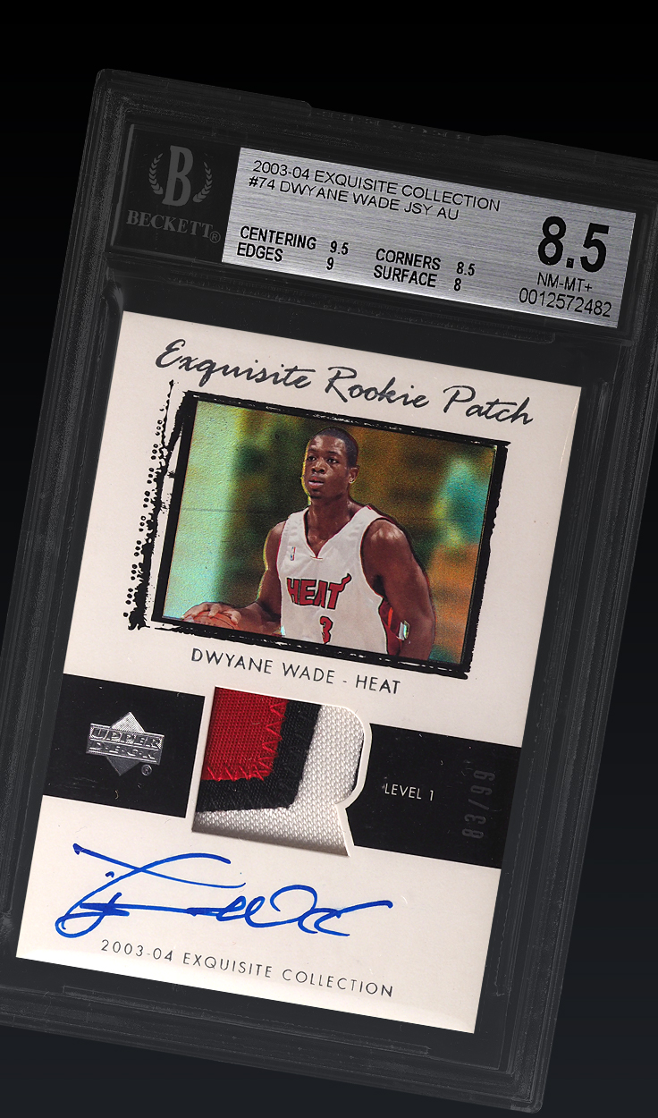 Dwyane Wade , '03-'04 Exquisite BGS 8.5
