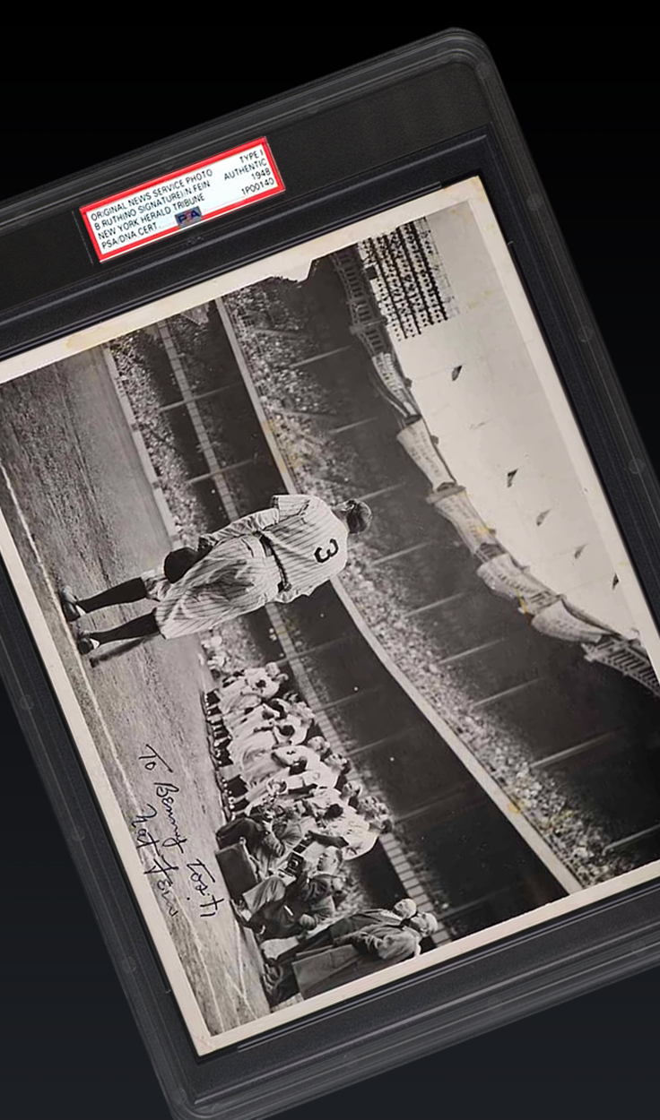 """Babe Ruth, """"Ruth Bows Out"""" Type 1 Photo"""