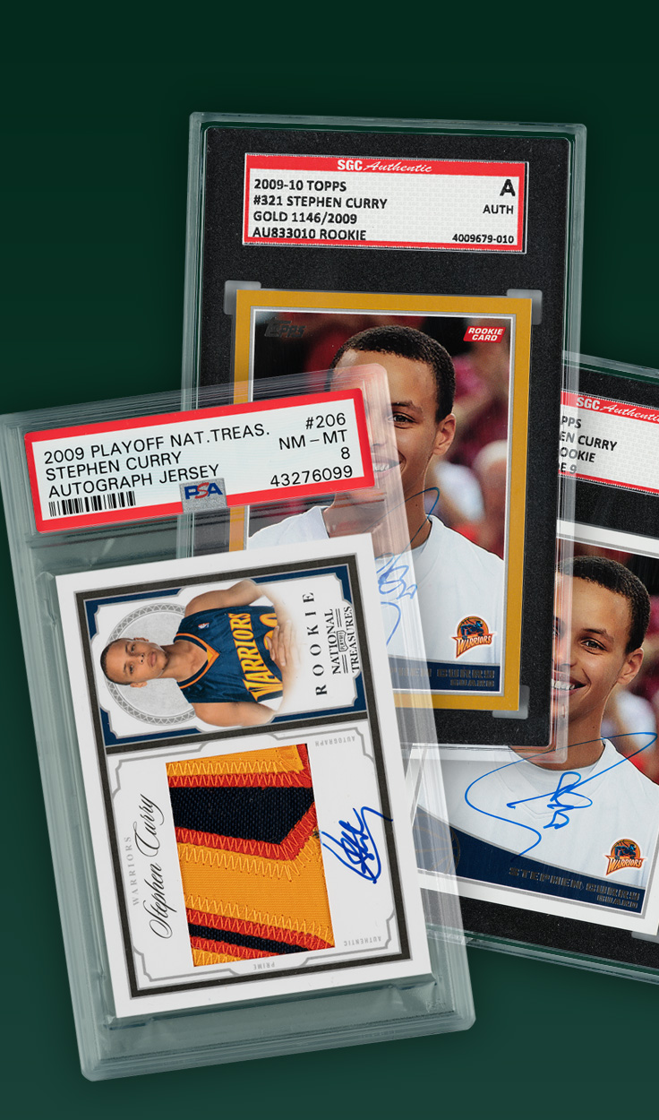 Stephen Curry, 2009 Signed Rookie Cards Basket