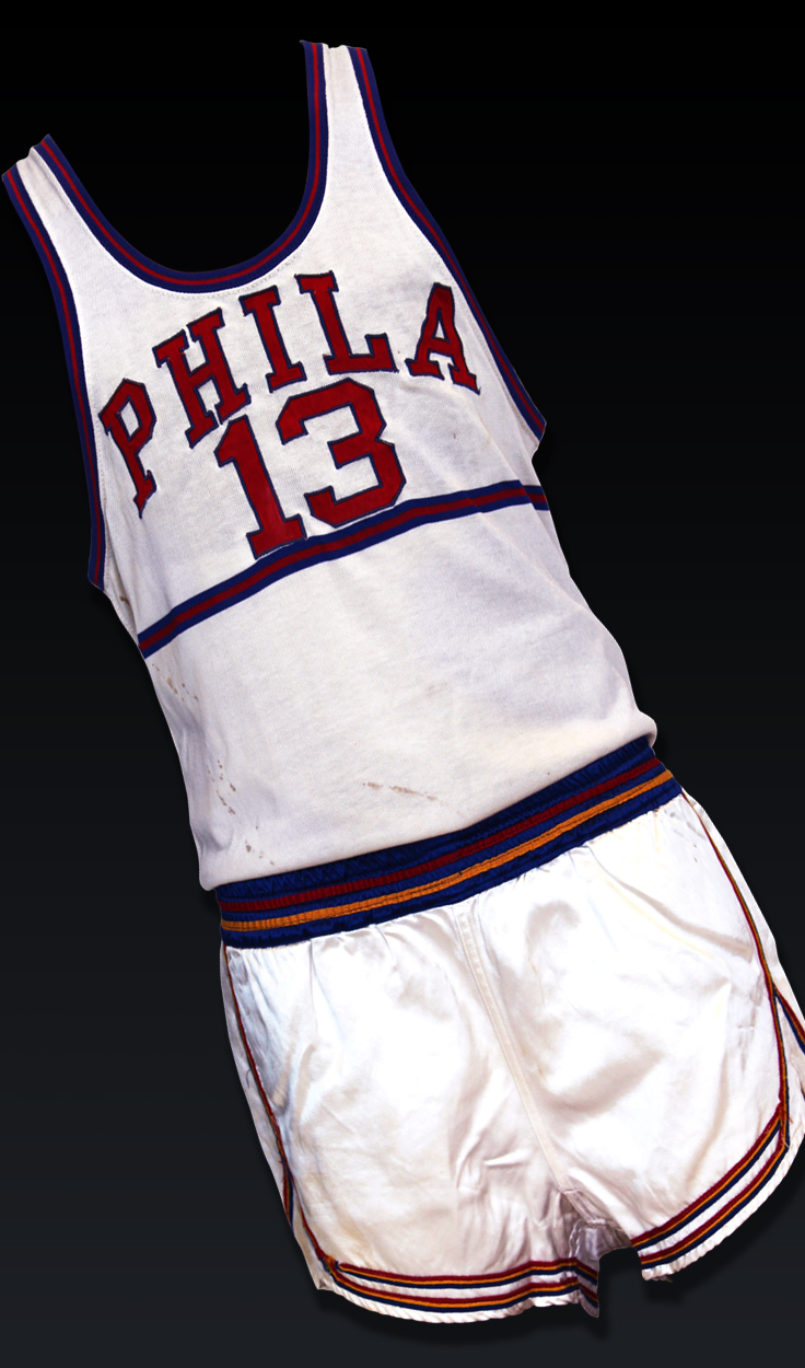 Wilt Chamberlain, '59-'60 Rookie Home Full Uniform